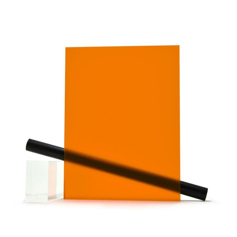 PMMA (Plexi) Orange mat ep 3 mm