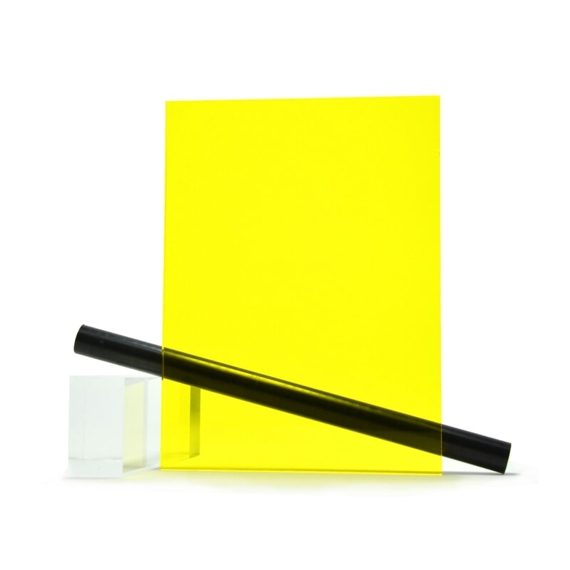 PMMA (Plexi) Jaune Brillant ep 3 mm