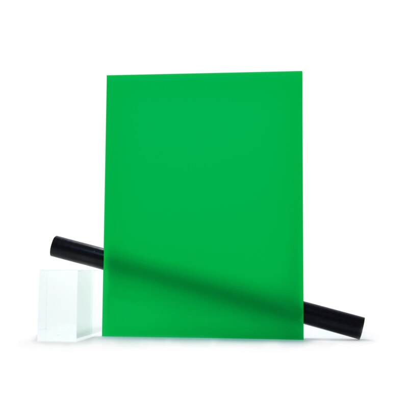 PMMA (Plexi) Vert Brillant ep 3 mm
