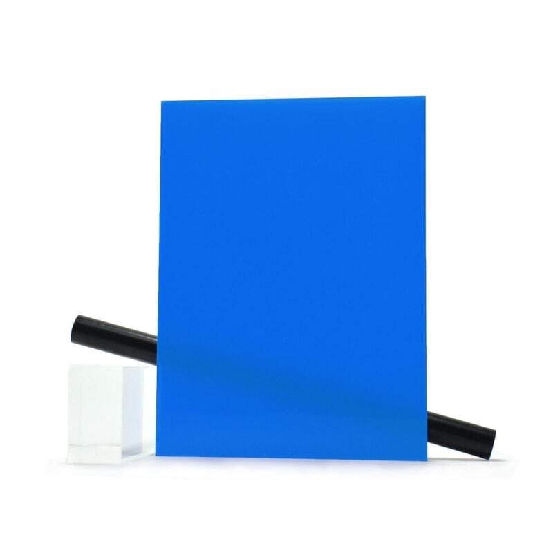 PMMA (Plexi) Bleu Brillant ep 3 mm