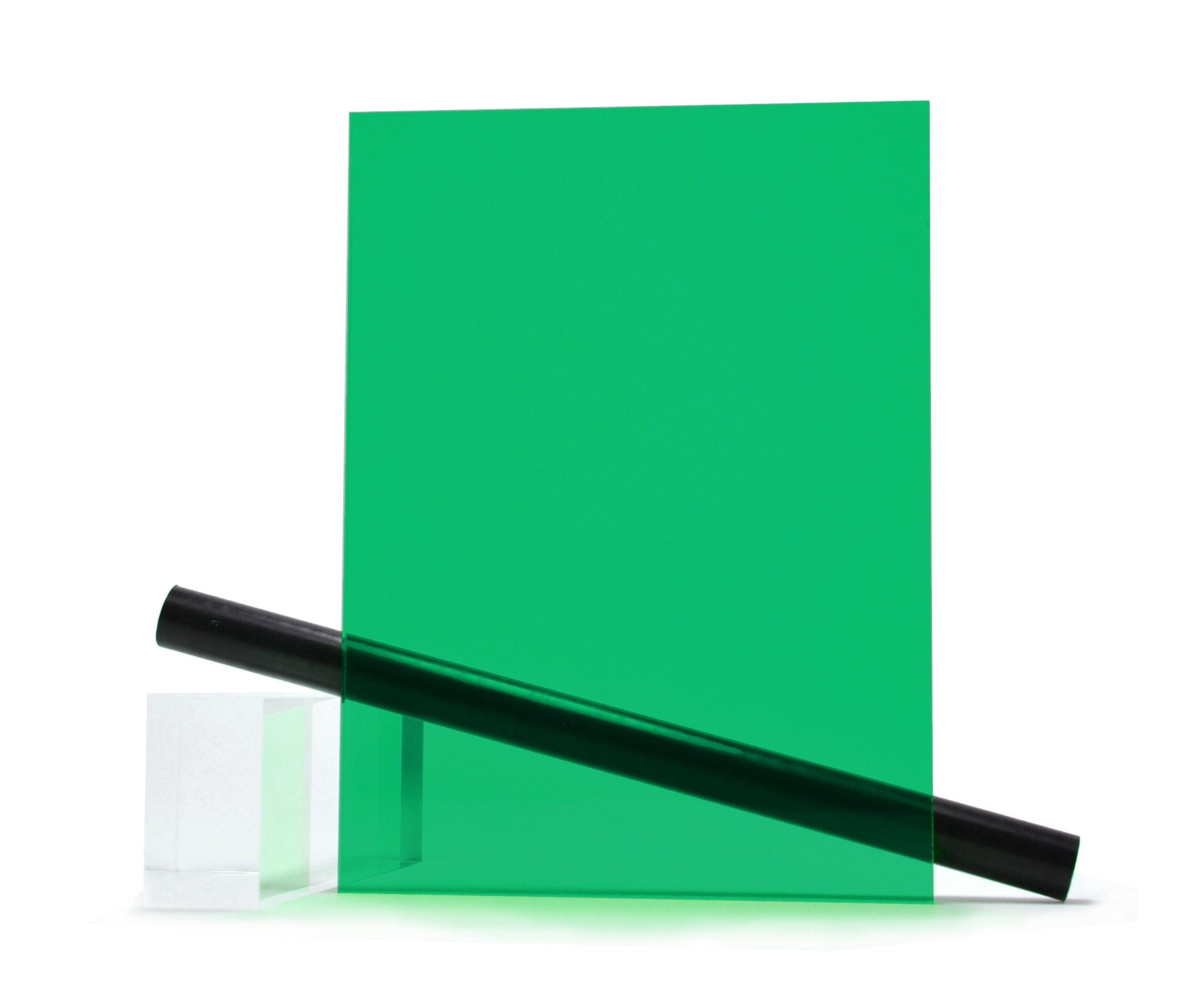 100 x 100 mm B/&T Metall Verre acrylique PMMA GS vert fluorescent lisse 3,0 mm d/épaisseur r/ésistant aux UV Film des deux c/ôt/és d/écoup/é Taille 10 x 10 cm