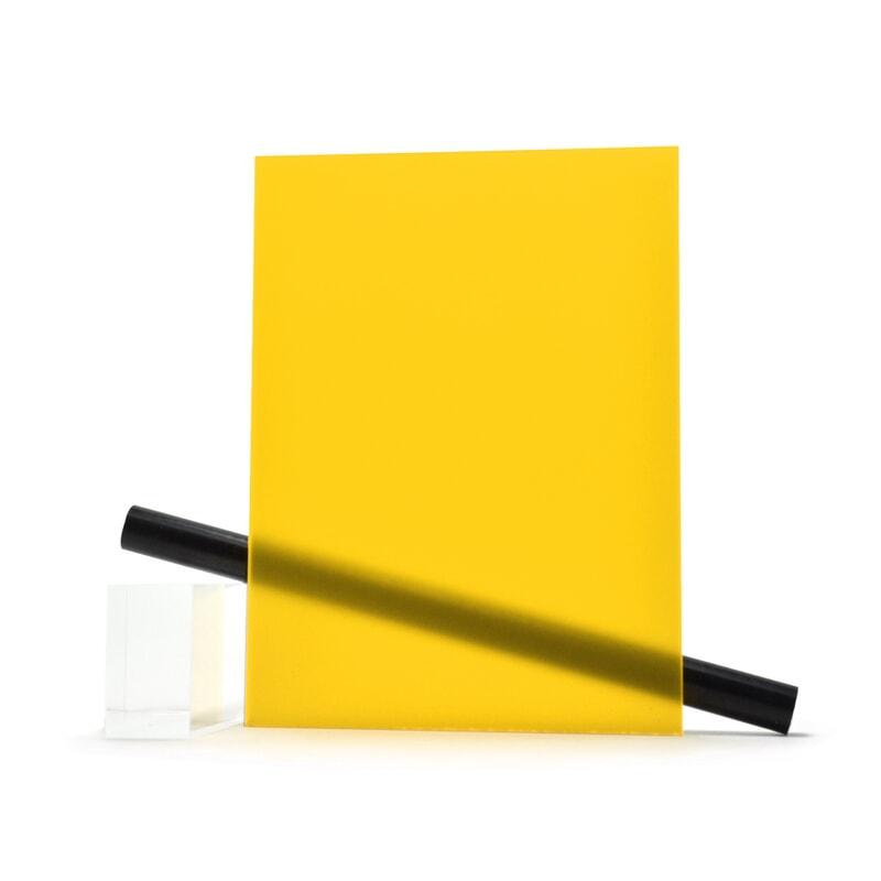 PMMA (Plexi) Orange mat ep 6 mm