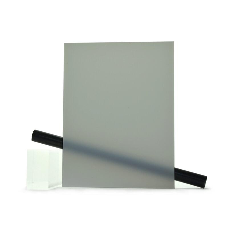PMMA (Plexi) Gris mat ep 6 mm