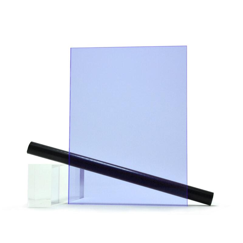 PMMA (Plexi) Bleu Fluo Brillant ep 3 mm