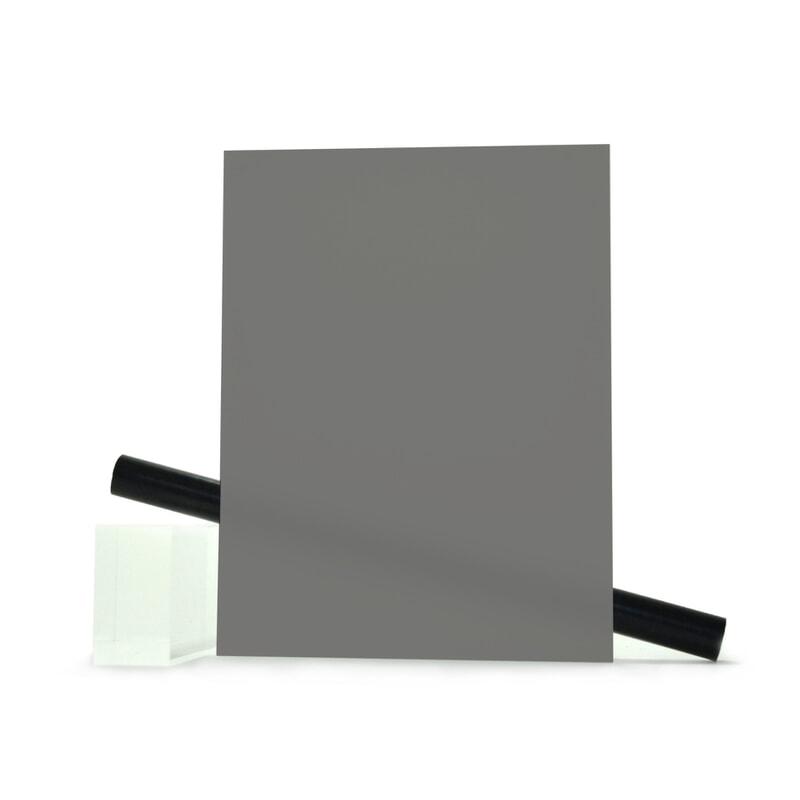 PMMA (Plexi) Gris Brillant ep 3 mm
