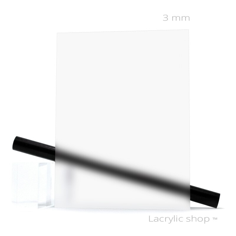 Plaque Plexiglass Satinice Satinglas Incolore sur mesure ep 3 mm