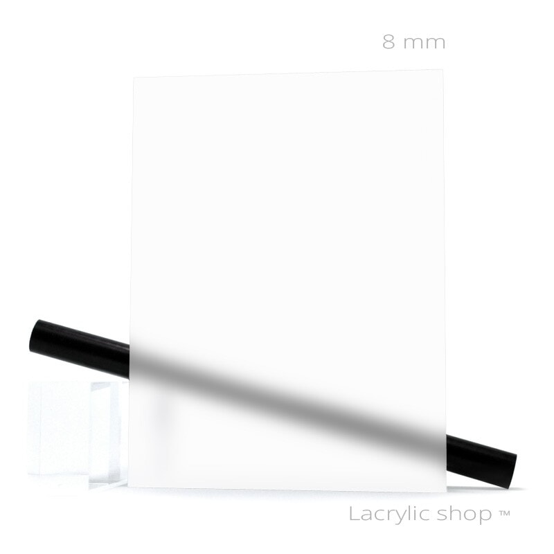 Plaque Plexiglas Satinice WH10 Blanc Opal ep 8 mm