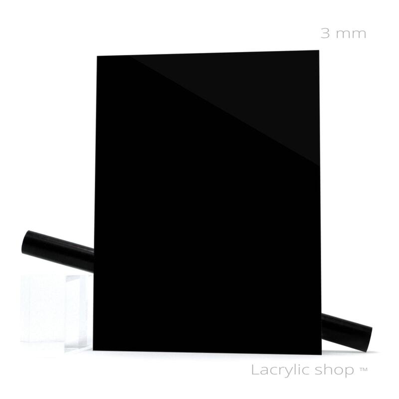 plaque plexiglass sur mesure noir brillant ep 3 au. Black Bedroom Furniture Sets. Home Design Ideas