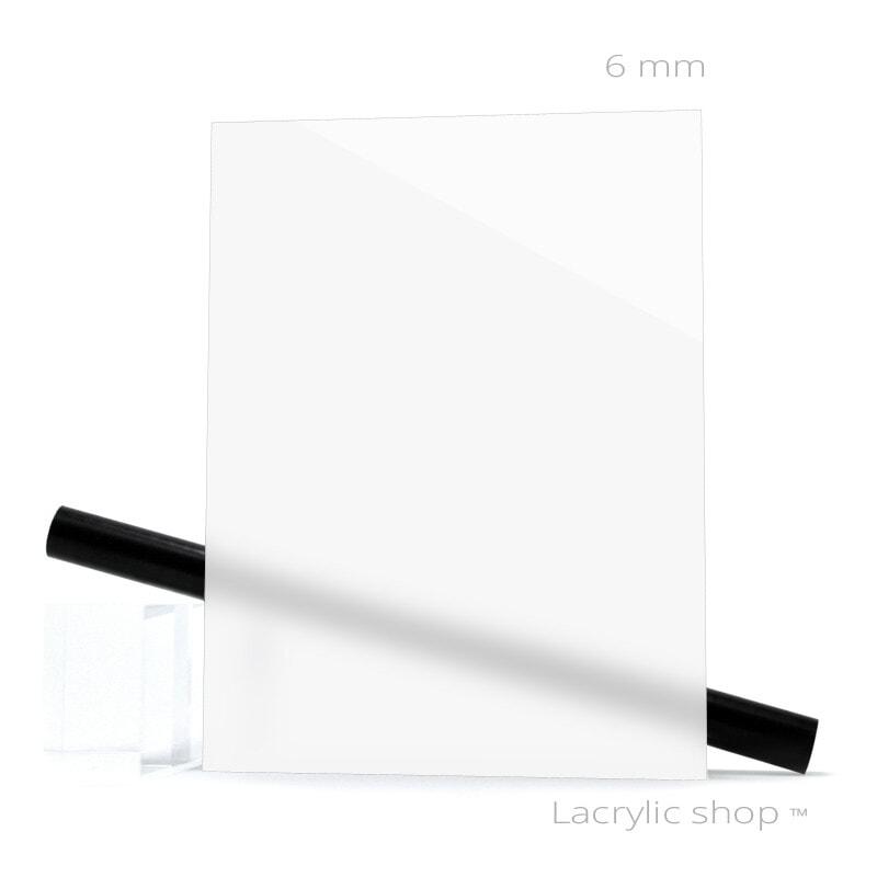 Plaque Plexiglass sur mesure (PMMA Coulé) Blanc WH02 ep 6 mm
