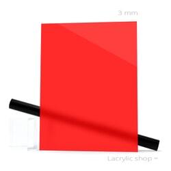 Plexiglass sur mesure Rouge Opal ep 3 mm ref Perspex 4403