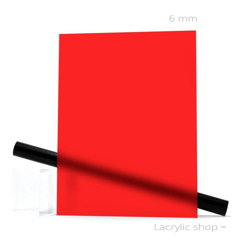 Plexiglass sur mesure Rouge Mat ep 6 mm ref Altuglas Dual Satin 145-12018