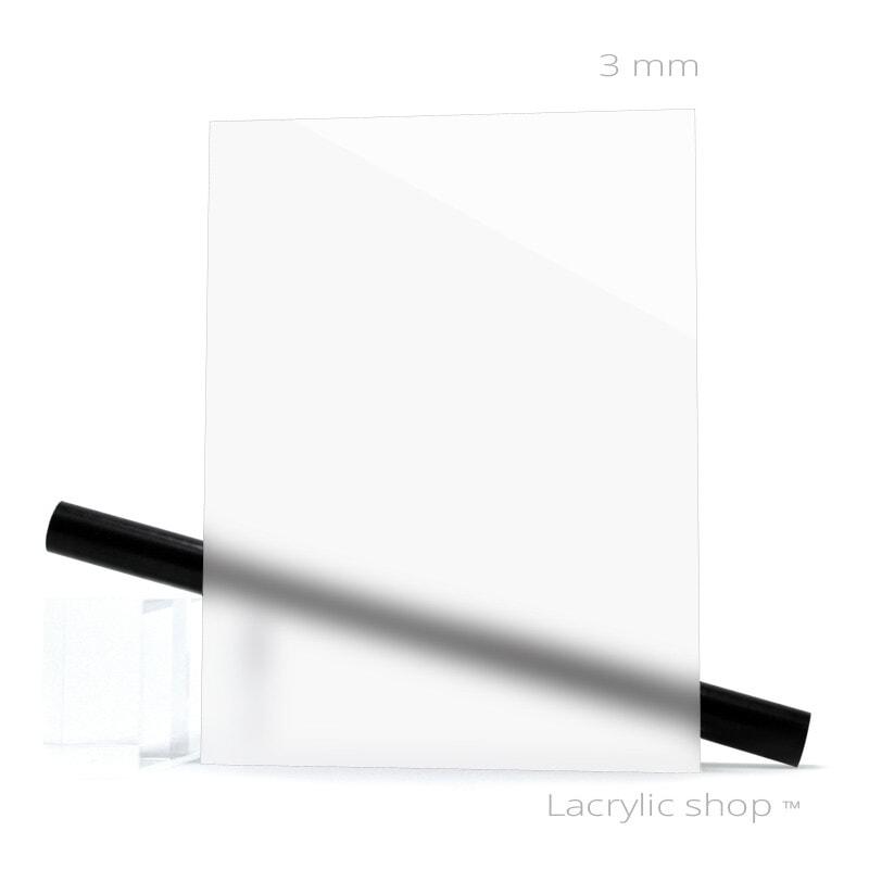 Plaque Plexiglass PMMA Coulé Blanc Brillant ep 3 mm Perspex 030