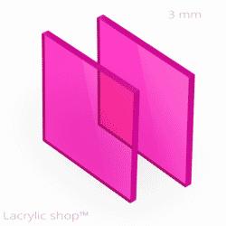 Découpe Plexiglass sur mesure Rose Fuchsia transparent ep 3 mm ref Setacryl 1232