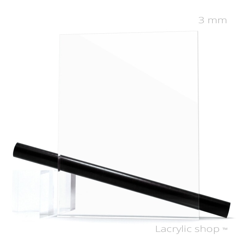 Plaque Plexiglass sur Mesure Transparent ep 3