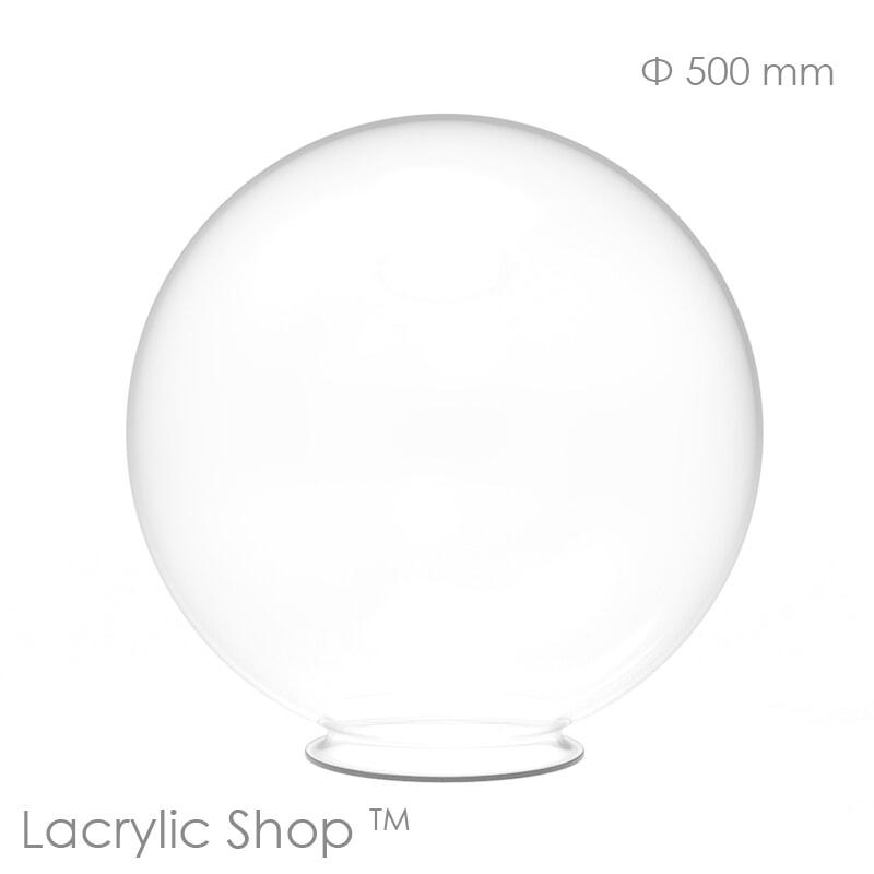 Sphère Plexiglass (PMMA) Transparente Incolore diam 500 mm