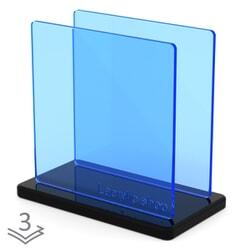 PMMA (Plexiglass) Bleu Fluo Perspex 7T97 ep 3 mm