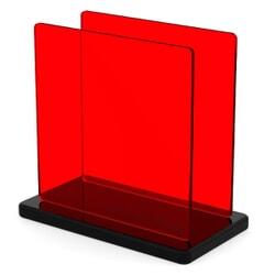 Plexiglass sur mesure Teinté Rouge ep 3 : Altuglas 100-12000 Perspex 4401