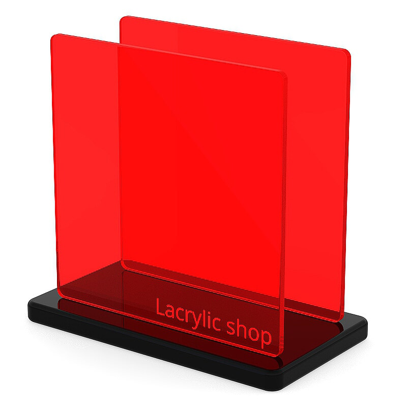 Plexiglass sur mesure Rouge Fluo ep 3 : Perspex 4T56