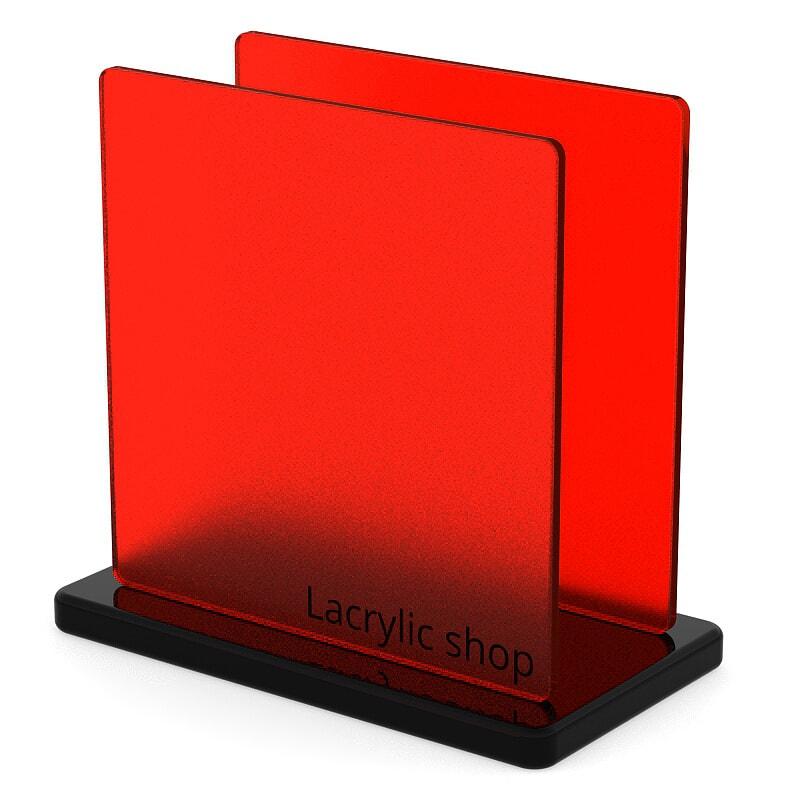 Plexiglass sur mesure Rouge Mat ep 6 : Altuglas 145-12018
