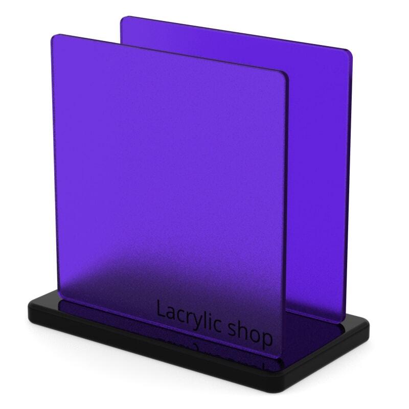 Plexiglass sur mesure Violet Mat ep 3 : Perspex Frost 7T58 (≈ Satinglas 51231, Satinice 4H01)