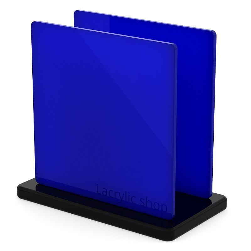Plaque Plexiglass Bleu Foncé Opal ep 3 | Altuglas 100-23003