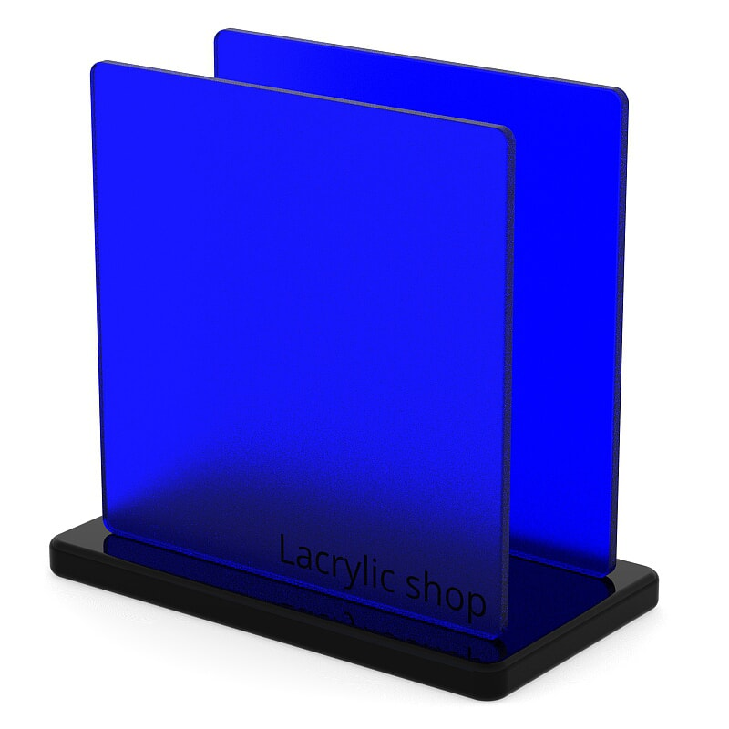 Plaque Plexiglass Bleu Mat ep 4   Altuglas 145-13040 (≈ Satinglas 51362, Perspex 7T28, Satinice 5C01)
