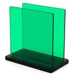 Plaque Plexiglass Teinté Vert Foncé ep 3 | Altuglas 100-14000 (≈ Setacryl 1059, Perspex 6600)