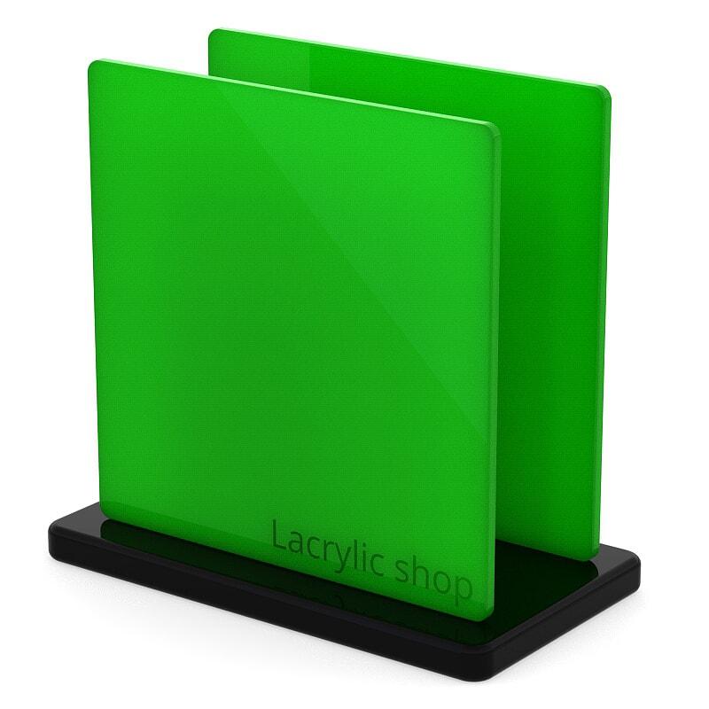Plaque Plexiglass Vert Clair Opal ep 3 | Altuglas 100-24003 (≈ Setacryl 2057, Perspex 6205)