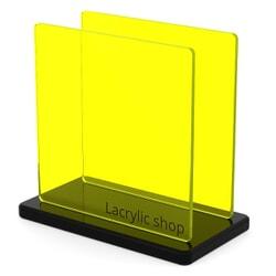 Plaque Plexiglass Teinté Jaune ep 3 | Setacryl 1014