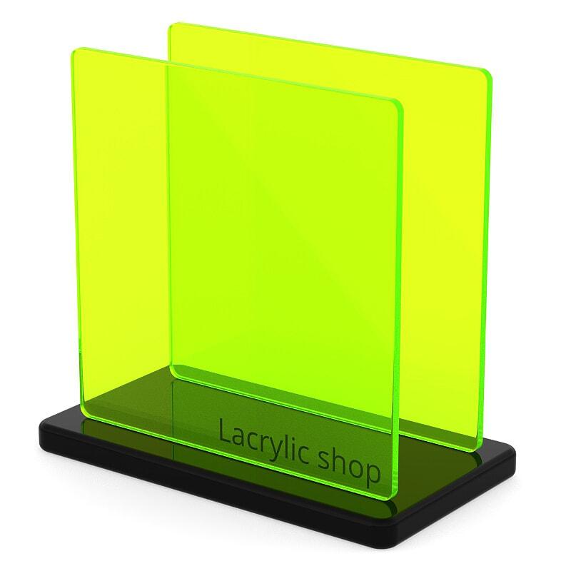 Plaque Plexiglass Jaune Fluo ep 3   Perspex 6T66 (≈ Plexiglas 6C02, Setacryl 1150, Altuglas 127-34005)