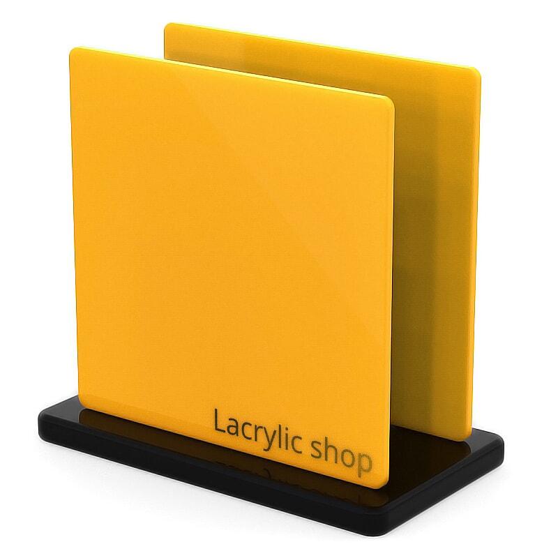 Plaque Plexiglass Jaune Opal ep 3 | Altuglas 100-21045