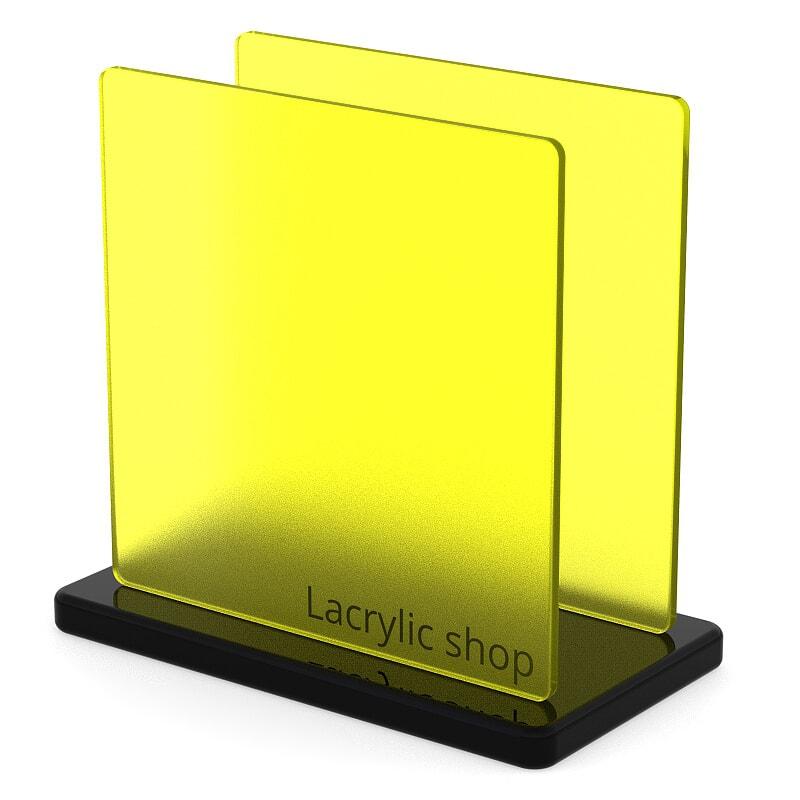Plaque Plexiglass Jaune Mat ep 3 | Frost 2T07 (≈ Plexiglas 1C01)