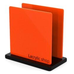 Plaque Plexiglass Orange Opal ep 3 | Altuglas 100-25001 (≈ Setacryl 2012, Plexiglas 2H02, Perspex 363)