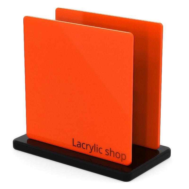 Plaque Plexiglass Orange Opal ep 3   Altuglas 100-25001 (≈ Setacryl 2012, Plexiglas 2H02, Perspex 363)