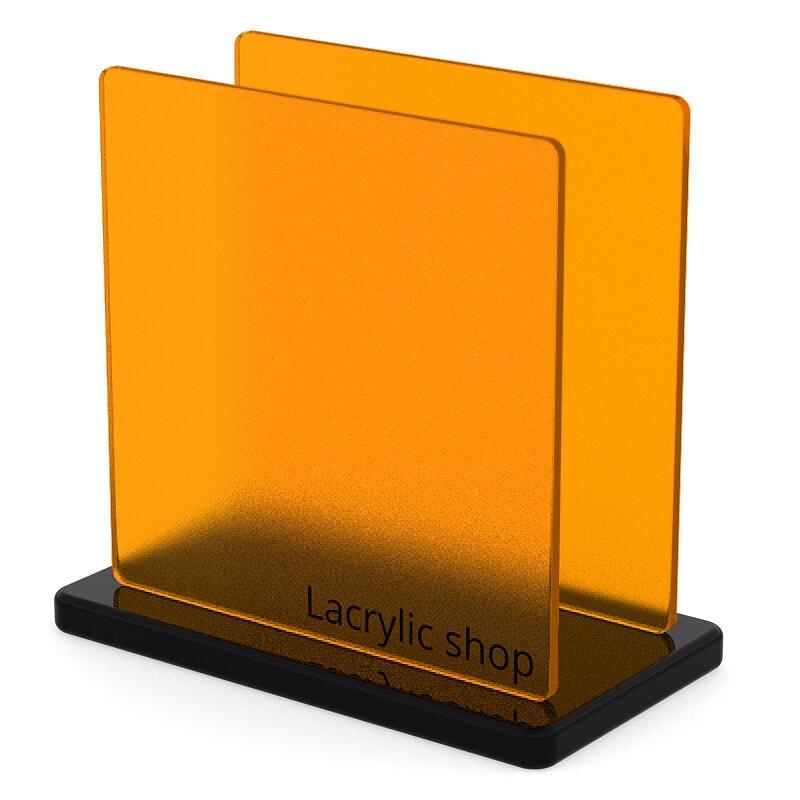 Plaque Plexiglass Orange Mat Clair ep 6   Altuglas 145-15007 (≈ Satinglas 51310, Satinice 2C02, Perspex 2T53)