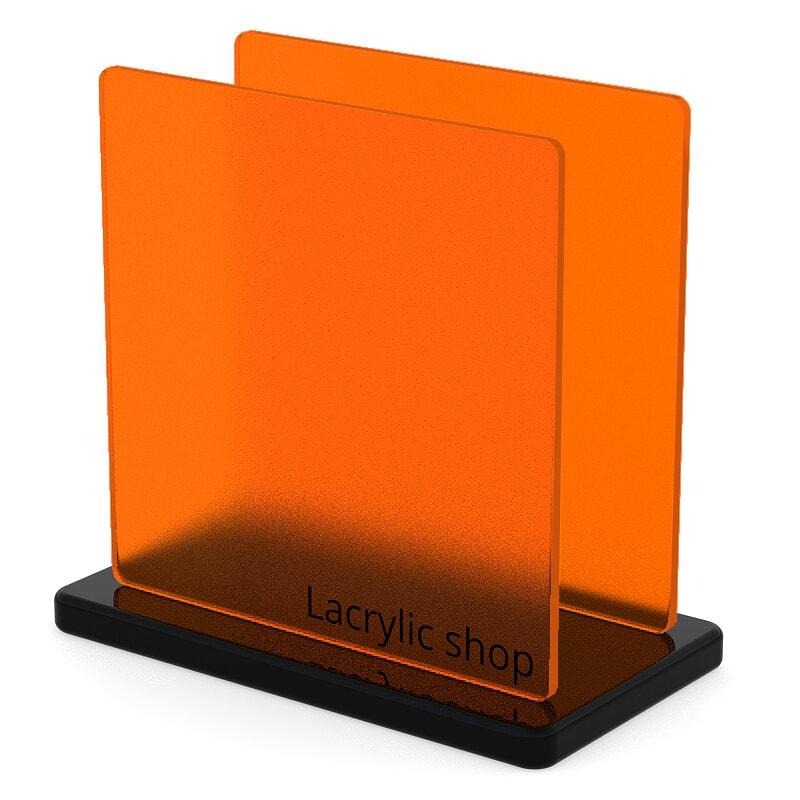 Plaque Plexiglass Orange Mat ep 3   Perspex Frost 3T17 (≈ Satinglas 51013)